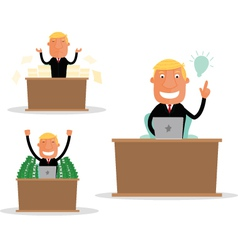 Businessman In Desk vector image