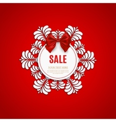 Christmas sale design template Christmas sale vector image