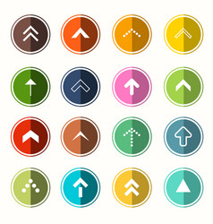Colorful flat arrows arrow in circle set symbols vector