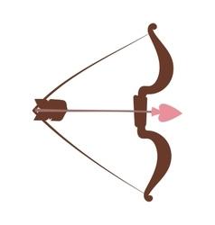 Cupid bow and arrow vector