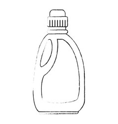 Detergent bottle isolated icon vector