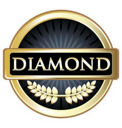 Diamond black label vector