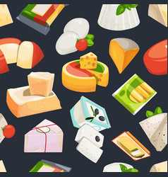 Different grades of cheeses seamless vector
