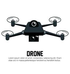 drone black icon graphic vector image