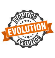 Evolution stamp sign seal vector