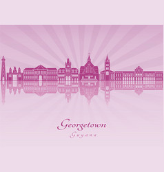 Georgetown in purple radiant orchid vector