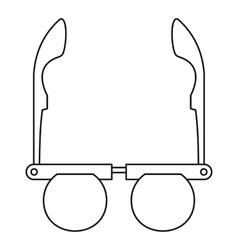 Glasses with round lenses icon outline style vector