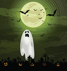 Halloween ghost background 0609 vector
