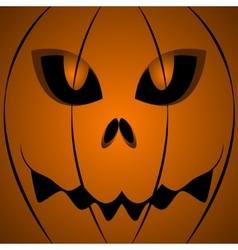 Halloween scary pumpkin face vector image