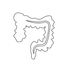 Intestines icon outline style vector