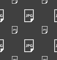 Jpg file icon sign seamless pattern on a gray vector