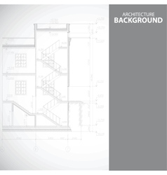 Monochrome stairs architecture background vector