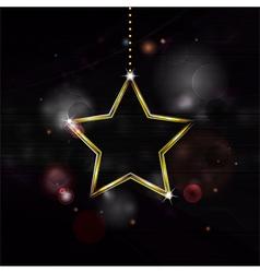 Neon christmas star decoration bakground vector