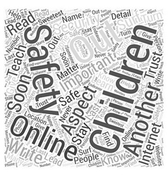 Safety for children word cloud concept vector