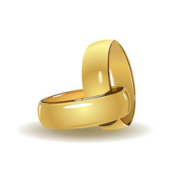 simple wedding rings vector image vector image