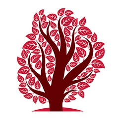 Stylized branchy tree isolated on white b vector