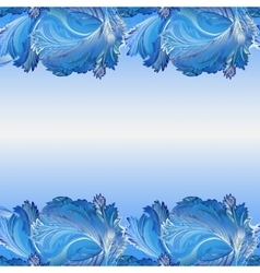 Winter frozen glass background Horizontal border vector image vector image