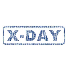 x-day textile stamp vector image vector image