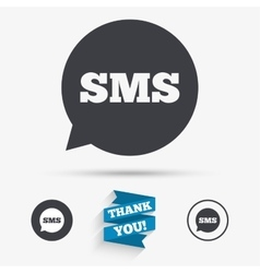 Sms speech bubble icon information symbol vector