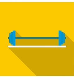 Rod on stand icon flat style vector