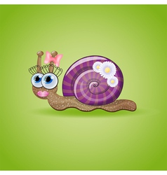 Isolated funny female snail vector image