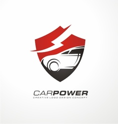 Auto electric logo design vector image