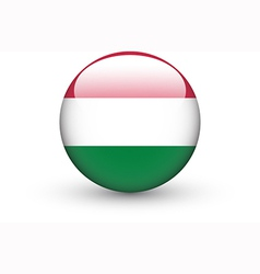 Round icon with national flag of hungary vector