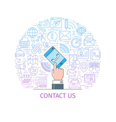Contact us banner3 vector