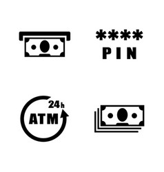 atm simple related icons vector image