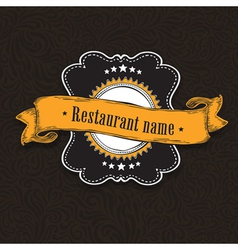 Vintage menu card vector