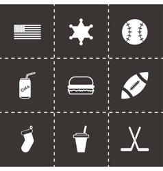 usa icon set vector image