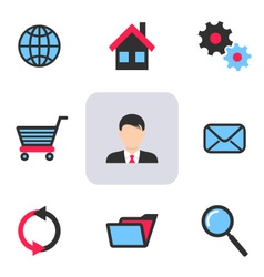 Office and web icons vector