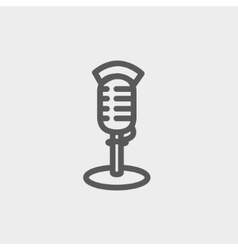 On air microphone thin line icon vector