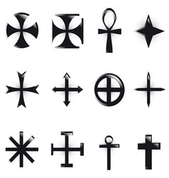 various religious symb vector
