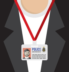 Police id card vector