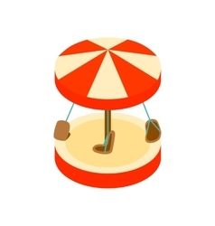 Merry-go-round isometric 3d icon vector