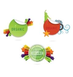 shiny creative labels and emblems set vector image