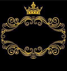 Medieval frame vector