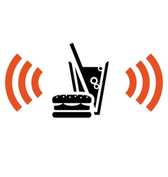 fast food with wi-fi vector image