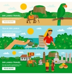 Banner Sri Lanka vector image