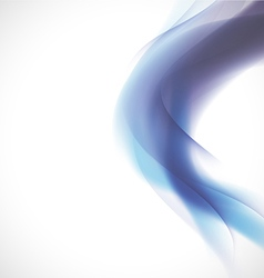Abstract smooth blue flow background and space vector