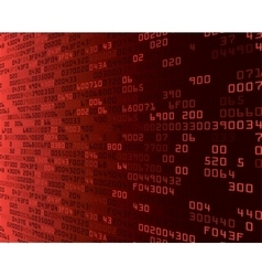 Red security background with hex-code vector
