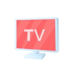 Tv screen icon in cartoon style vector