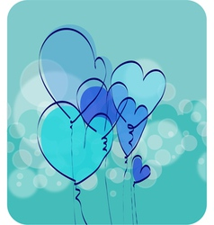 Air hearts vector image vector image