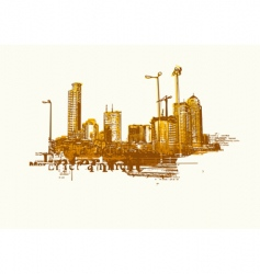 big city vector image