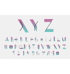 Black alphabetic font vector image vector image