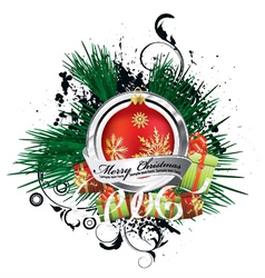 Christmas emblem vector