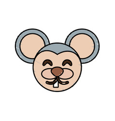 Cute mouse drawing animal vector