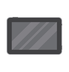 Dark tablet in flat style isolated on a white vector