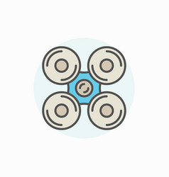 drone or quadrocopter icon vector image